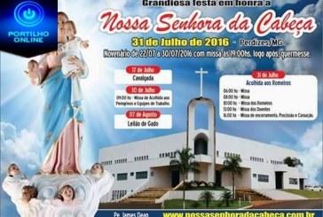 """Está chegando o dia de uma das maiores festa religiosa da região. Festa de Nossa Senhora da cabeça"""" no santuário de Perdizes."""
