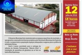 Convite Entrega da Reforma do Poliesportivo Boa Esperança e dos aparelhos de academia ao ar livre
