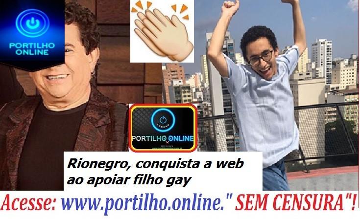 Solimões, da dupla com Rionegro, conquista a web ao apoiar filho gay