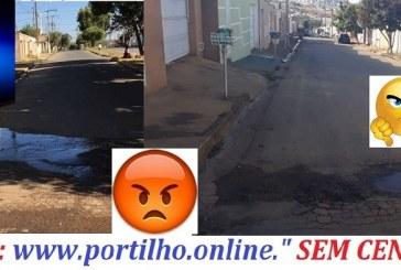 A população reclama de esgoto fedorento que vaza e buraco no meio da rua-jardim sul 2