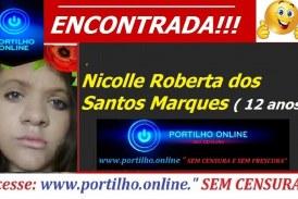 ENCONTRADA!!! Nicolle Roberta dos Santos Marques ( 12 anos) FOI ENCONTRADA DEPOIS DE SER RECONHECIDA PELO SITE.