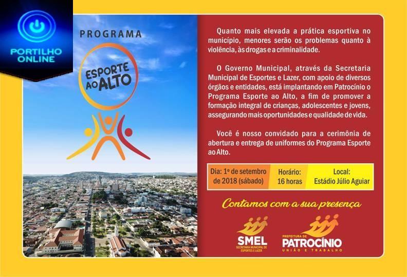 Convite Abertura Programa Esporte ao Alto