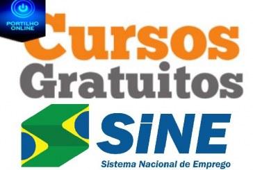 CURSOS PROFISSIONALIZANTES. Sine em parceria com a Escola do Trabalhador, reabrem os cursos para a cidade de Patrocínio.