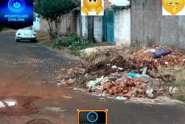 Portilho… Olha a situação da rua Boaventura Olegário no bairro Divinéia em Perdizes.