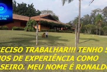 PRECISO TRABALHAR!!! TENHO 5 ANOS DE EXPERIÊNCIA COMO CASEIRO. MEU NOME É RONALDO!