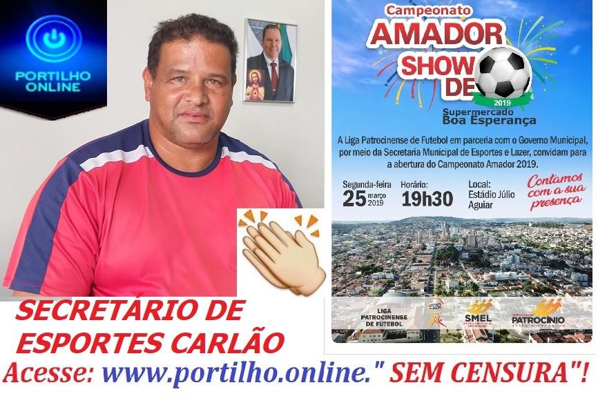 SECRETARIA DE ESPORTE LANÇA HOJE O CAMPEONATO SHOW DE BOLA.