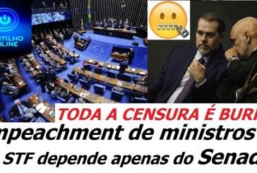 PARA CASSAR O MINISTRO ALEXANDRE DE MORAES, só depende apenas do Senado Federal.