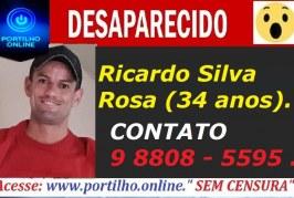 👉🤔🙄😱DESAPARECIDO!!! Ricardo Silva Rosa (34 anos).