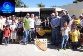 👉👏👍👊🙌P Vereador Joel de Carvalho faz a frente na entrega pelo prefeito Deiró de uma completa ambulância para a APAE.