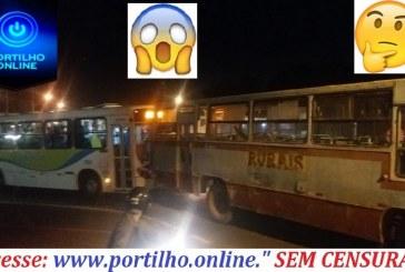 👉🤨🚔🚨🚓😠😱👎 Batida entre dois ônibus no trevo que do acesso ao bairro Serrão. Rotatória da MG 230.