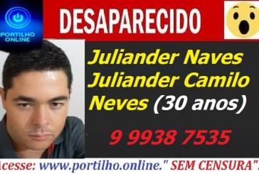 👉🚨🚔🤔😱😥😧 JOVEM DESAPARECIDO!!! Juliander Camilo Neves(30 anos).