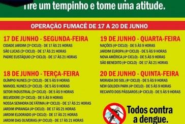 Programação do FUMACÊ – PRÓXIMA SEMANA (17/06 A 21/06)  CARRO 1