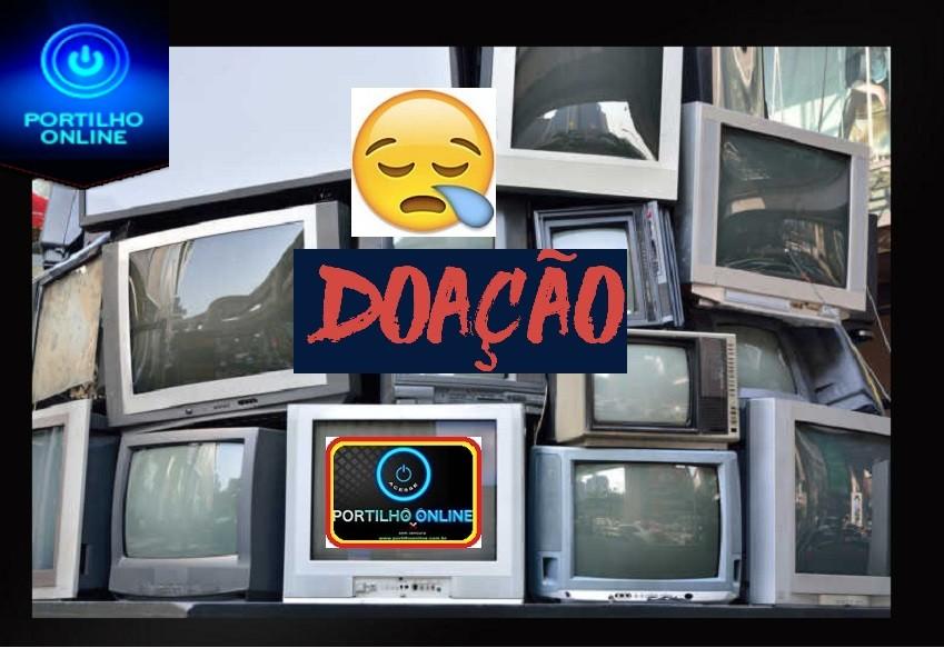 👉😱😪😑😔😞 📺📻 VOCÊ TEM UMA TV PODE SER DE TUBO PARA DOAR PRO VELHINHO???