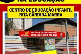 """Centro de Educação Infantil """"Rita Cândida Marra"""" será entregue a população nesta segunda 12/08"""