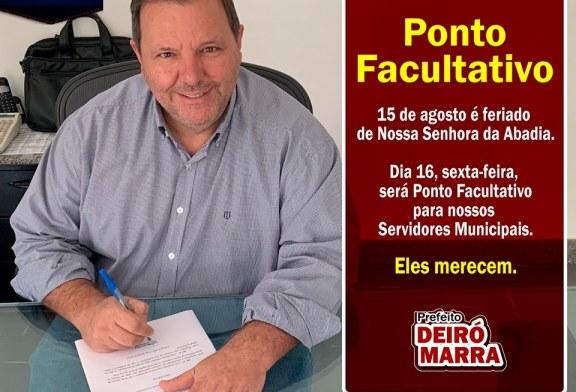 PONTO FACULTATIVO SEXTA-FEIRA 16 DE AGOSTO