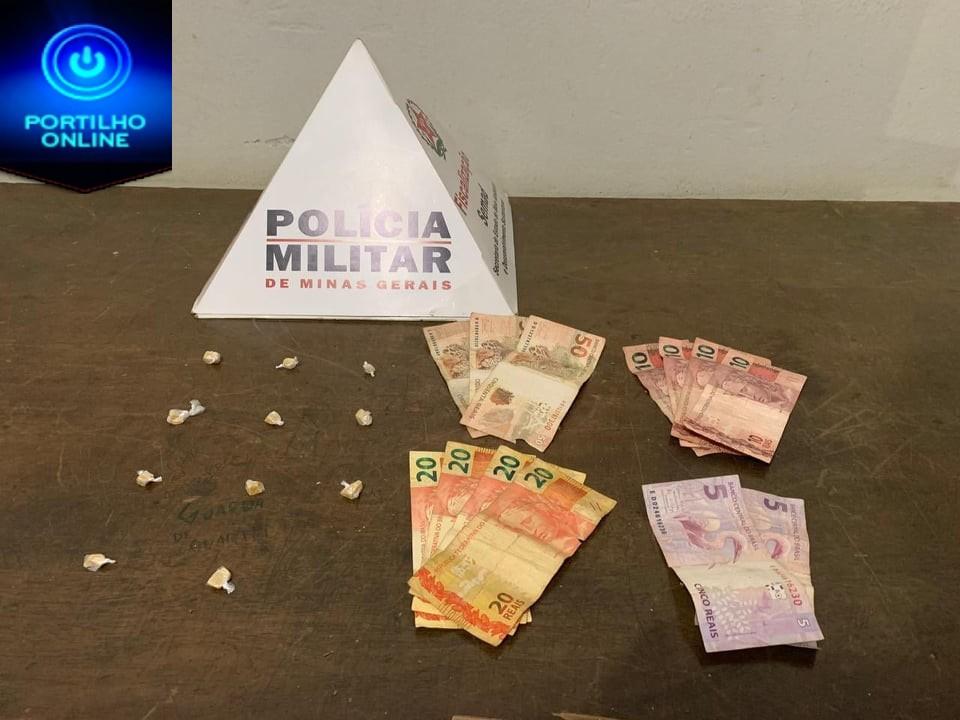 Polícia Militar prende um autor e apreende um menor por tráfico Ilícito de Drogas.