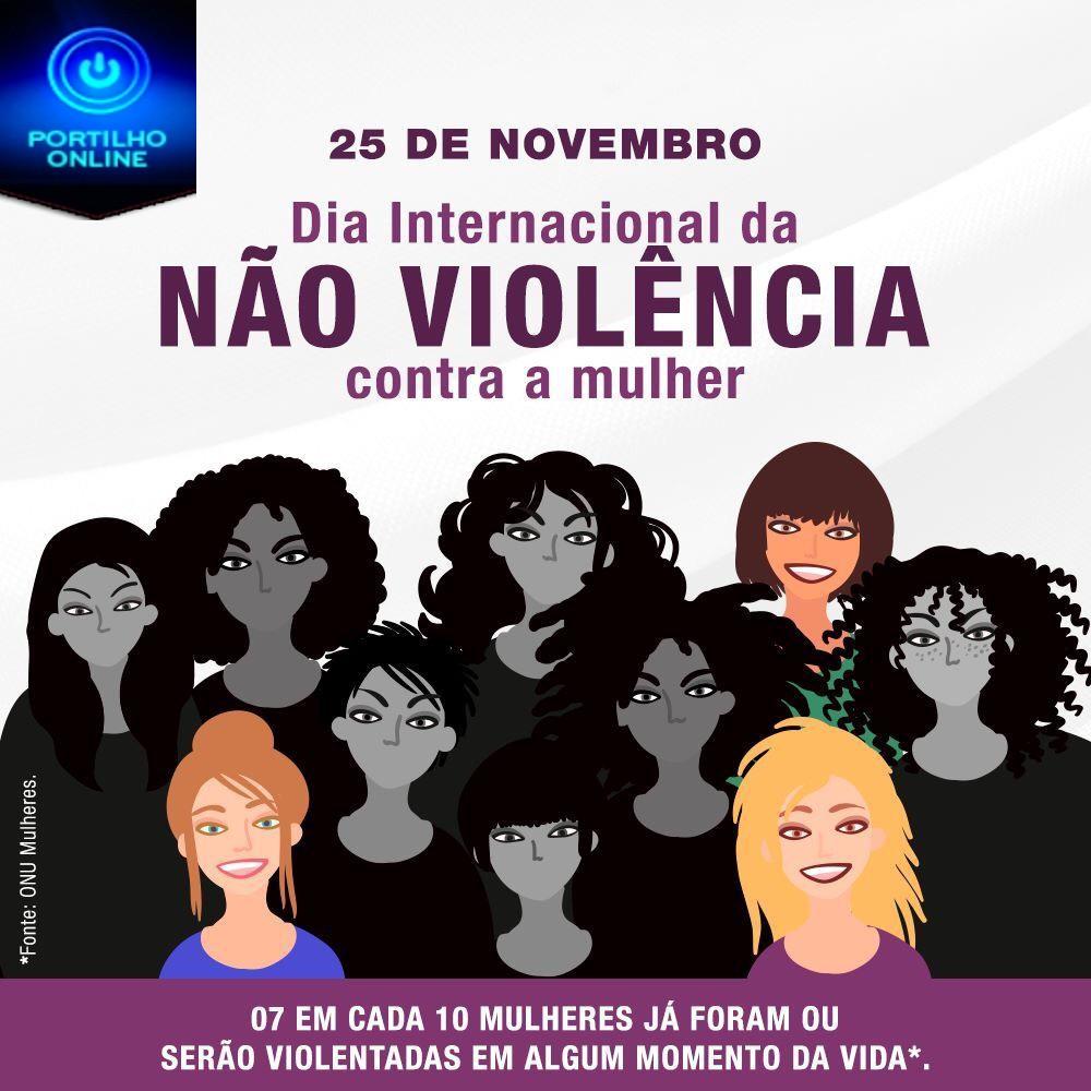 Dia Internacional pela Eliminação da Violência contra a Mulher.