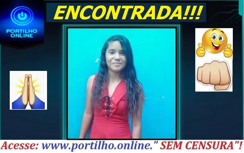 👉🚨🚓😱🙏👊🤫  ENCONTRADA!!!! Vitoria dos Santos Silva ( 14 anos). Estava em TEJUCO!