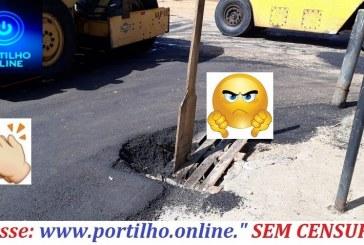 """👉👍👏👌👁 O asfalto ficou um """"brinco"""", mais a sinalização e armadilha pública continua🕳🕳👇👎…"""