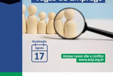 Vagas Atualizadas 17/08/2020