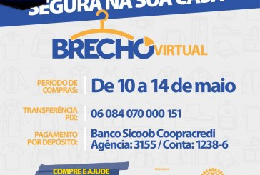 👉🤙👍👏👏👏👏 BRECHÔ VIRTUAL BENEFICENTE!!! DO DIA, 10/05/ Á 14/05/2021. COLABORE!!!