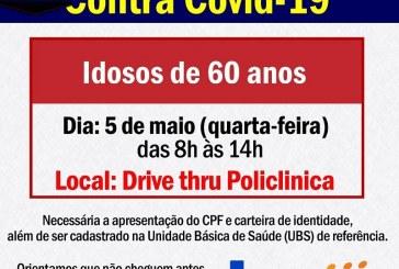 """👉👍👏👏👏👏👊💉💉💉💉CHEGOU A VEZ DOS """" SESSENTÕES""""!!!! É NESTA QUARTA FEIRA DIA, 05/05/2021 08 HORAS DA MANHA NA POLICLINICA"""
