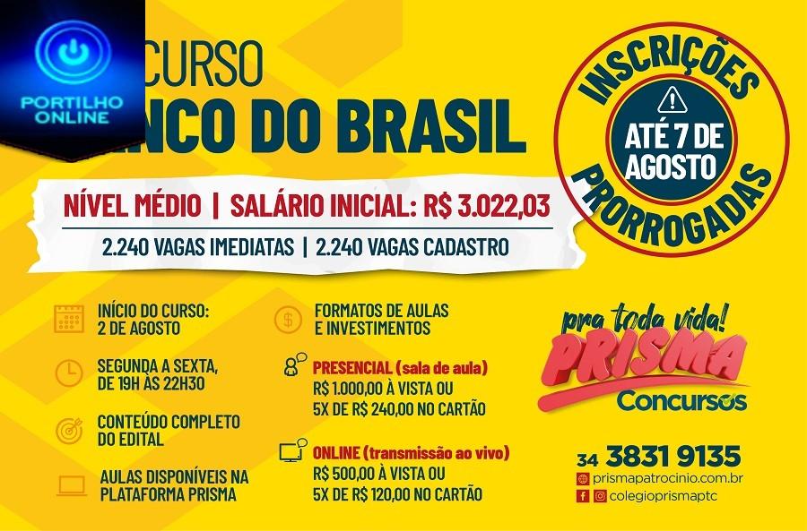 👉👍👏✍👍👏👏👏Colégio Prisma oferece Curso Preparatório direcionado para Concurso Banco do Brasil