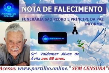 👉 😔⚰🕯😪👉😱😭😪⚰🕯😪 NOTA DE FALECIMENTO… Faleceu hoje em Patrcinio, o Srº Valdemar Alves de Ávila aos 98 anos. SÃO PEDRO E VELÓRIO PRÍNCIPE DA PAZ INFORMA…