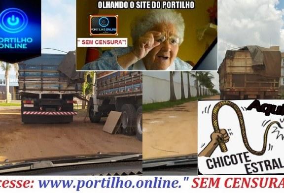 """👉😡😠👊🚓🚨🛑🚦🚧✍✍✍""""PORTA DO CÉU INTERROMPE""""!!! Por gentileza Portilho nos ajudem, os caminhão que vem desembarcar na cafeeira porta do céu, estão impedindo sempre o trânsito.."""