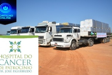 👉👏👍🚚🚛🙌🤝Carreata celebra chegada das primeiras cinco carretas com diversos materiais para a obra do HC Patrocínio